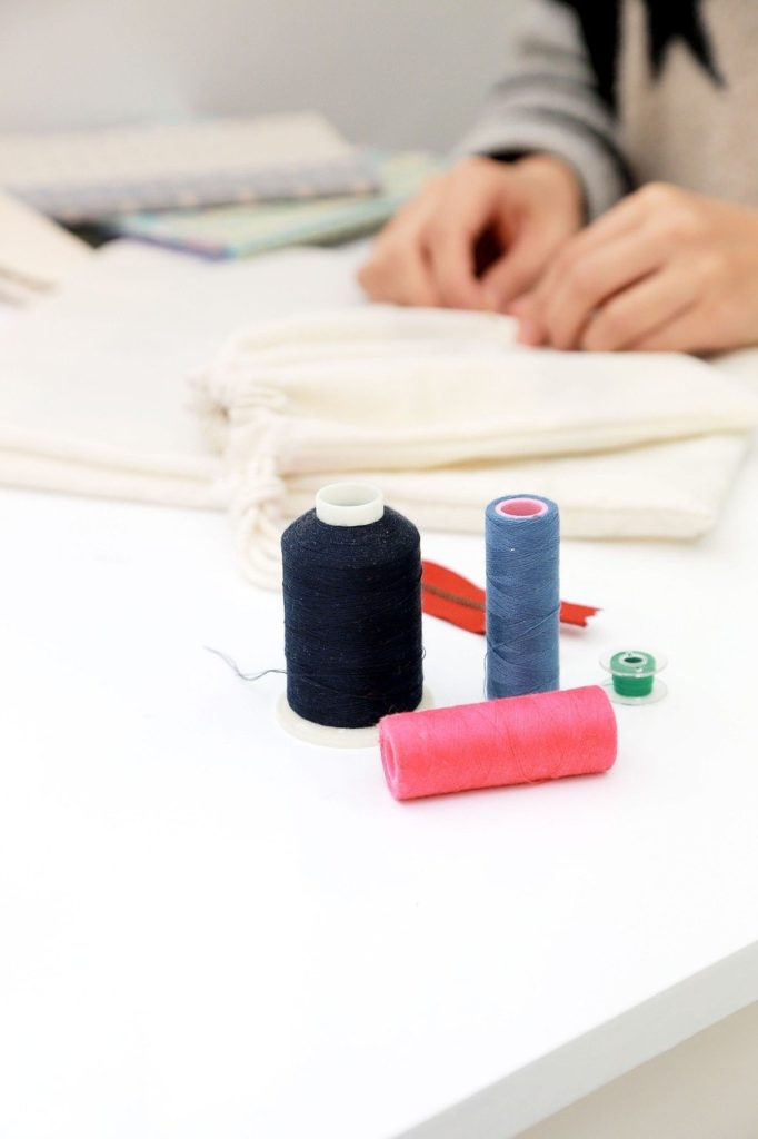 sewing, sewing machine, thread